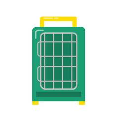 Bird travel cage icon in flat style vector