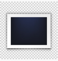 blank clear photo frame isolated on back vector image
