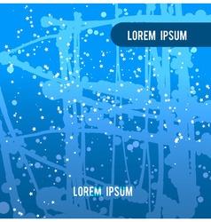 Blue backdrop splash paint texture vector