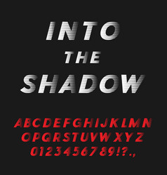 Bold italic font coming into shadow vector