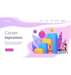 Business ambition concept landing page vector