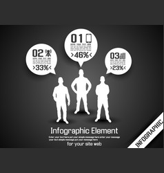 Business man infographic option three 2 grey vector