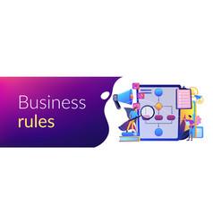 business rule concept banner header vector image