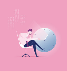 Businessman hard work vector
