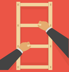 businessman on a ladder vector image
