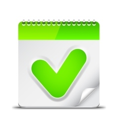 Calendar icon with check mark symbol vector