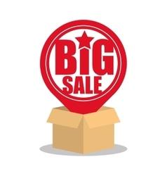 Cardboard box big sale pin map online vector