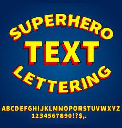 Cartoon style font vector