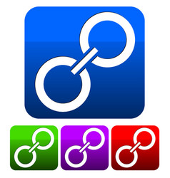 chain link icon manufacturing coopertion link vector image