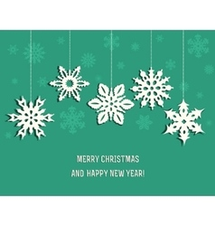 Christmas decoration from snowflakes vector image
