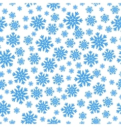 Christmas seamless pattern with blue snowflakes vector image