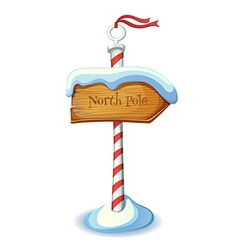 Christmas striped sign post vector