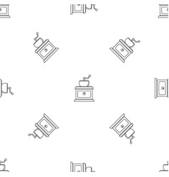 coffee grinder pattern seamless vector image