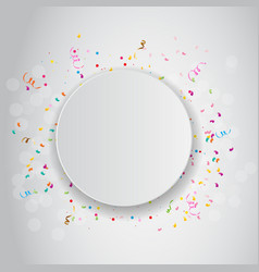 color celebration confetti background vector image