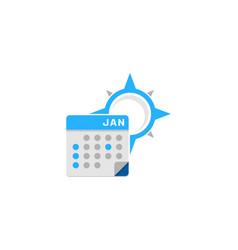 Compass calendar logo icon design vector