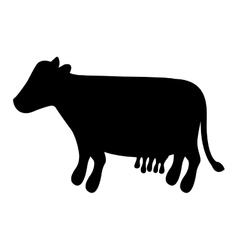 Cow animal icon vector