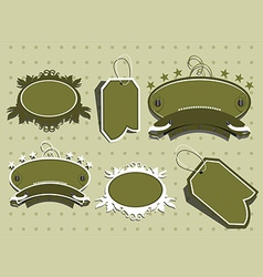 Cute scrapbook elements vector image