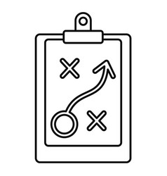 Decision strategy icon outline style vector