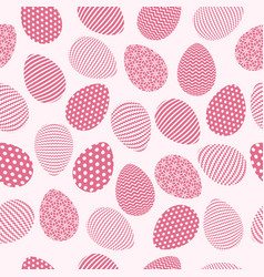 easter eggs with seamless ornament pattern vector image