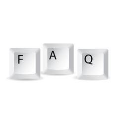 faq keys vector image