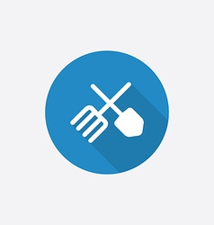 Farm Flat Blue Simple Icon with long shadow vector