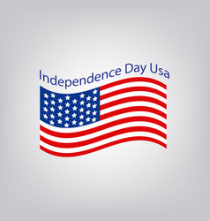 Flag of the united states independence day usa vector