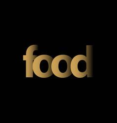 food logo template design vector image