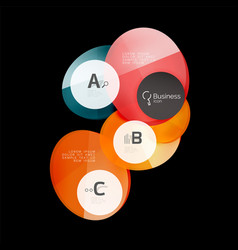 Glass color circles - infographic elements on vector