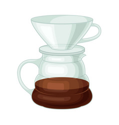 glass kettle for making tea or coffee vector image