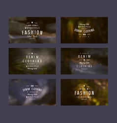 graphic design of tags for denim clothing vector image