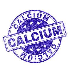 Grunge textured calcium stamp seal vector