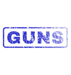 guns rubber stamp vector image
