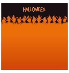 Halloween card template vector
