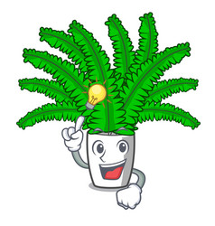 have an idea fresh fern branch isolated on mascot vector image