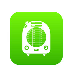 Heat-blower icon green vector