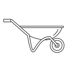 House wheelbarrow icon outline style vector