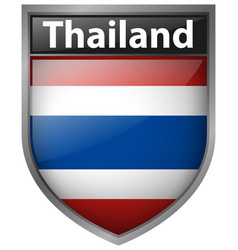 icon design for thailand flag vector image