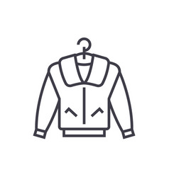 jacket line icon sign on vector image vector image