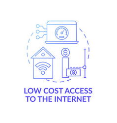 Low cost access to internet dark blue concept icon vector