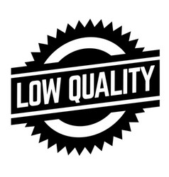 low quality stamp on white vector image