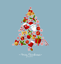 Merry christmas decoration for holiday vector