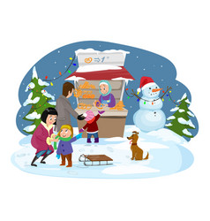 merry christmas happy family joyful boy vector image
