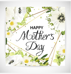 mother day floral template card vector image
