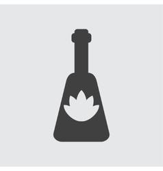 Oil bottle icon vector image