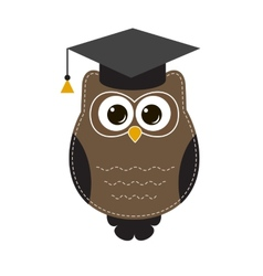 owl in hat vector image