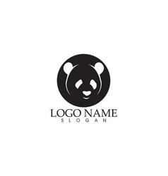 panda logo and symbols template icons app vector image
