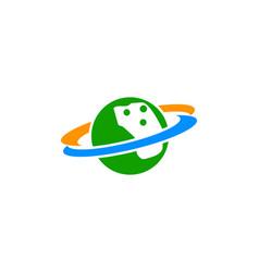 planet icon logo template vector image