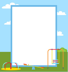 Playground colorful posters vector