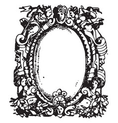 Printers-mark typographical frame has the head vector