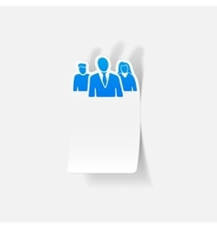 Realistic design element business people vector